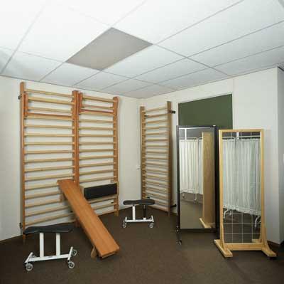 Оборудование для залов ЛФК Enraf Nonius - шведская стенка, скамья, зеркало
